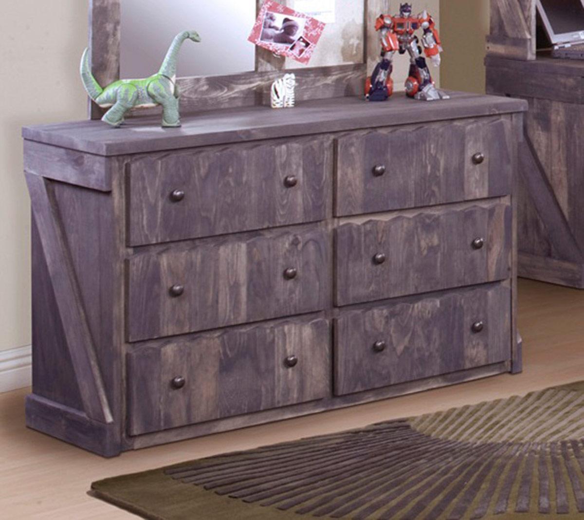 Chelsea Home 3514282 6 Drawer Dresser - Driftwood