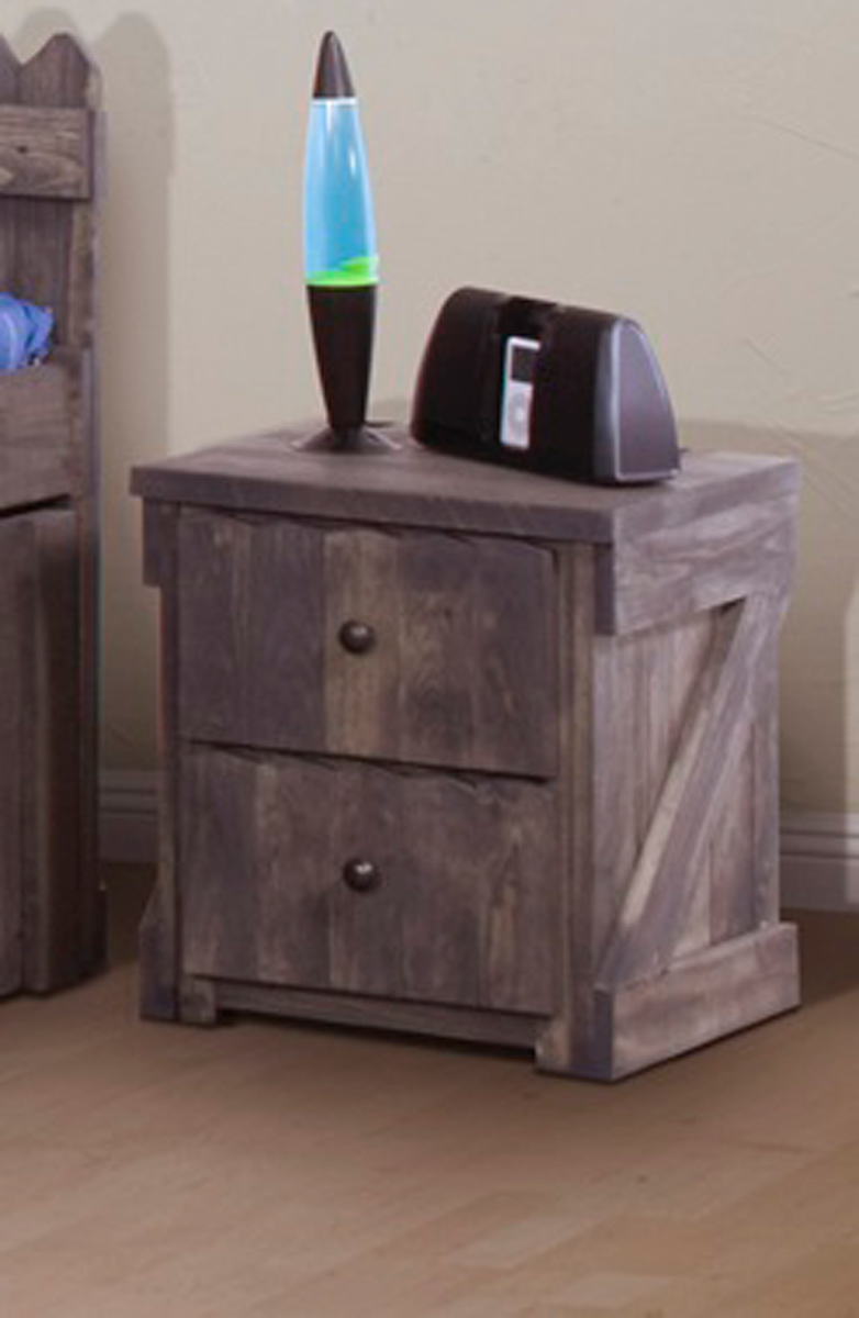 Chelsea Home 3514283 2 Drawer Night Stand - Driftwood