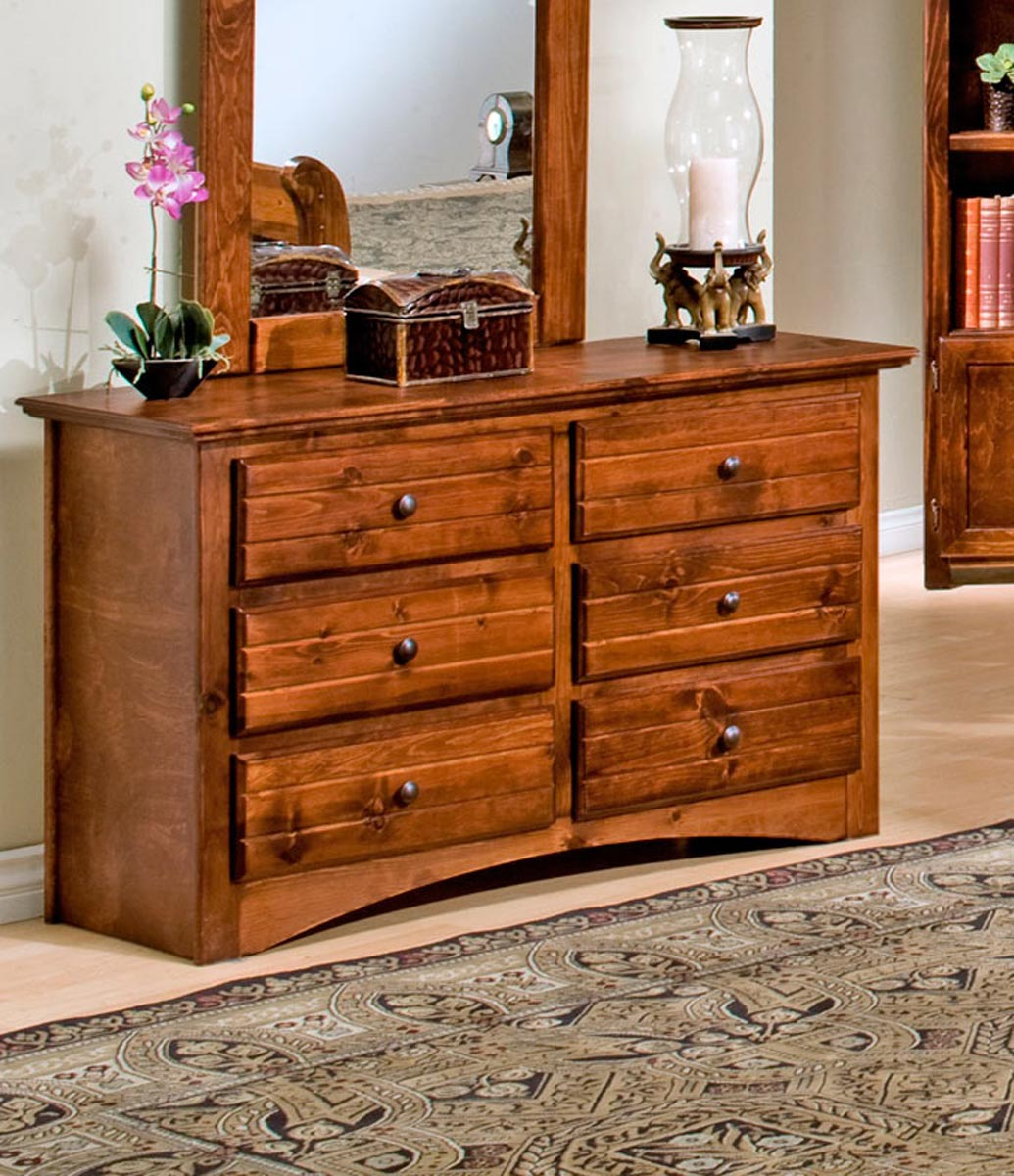 Chelsea Home 3524470-C 6 Drawer Dresser - Cocoa