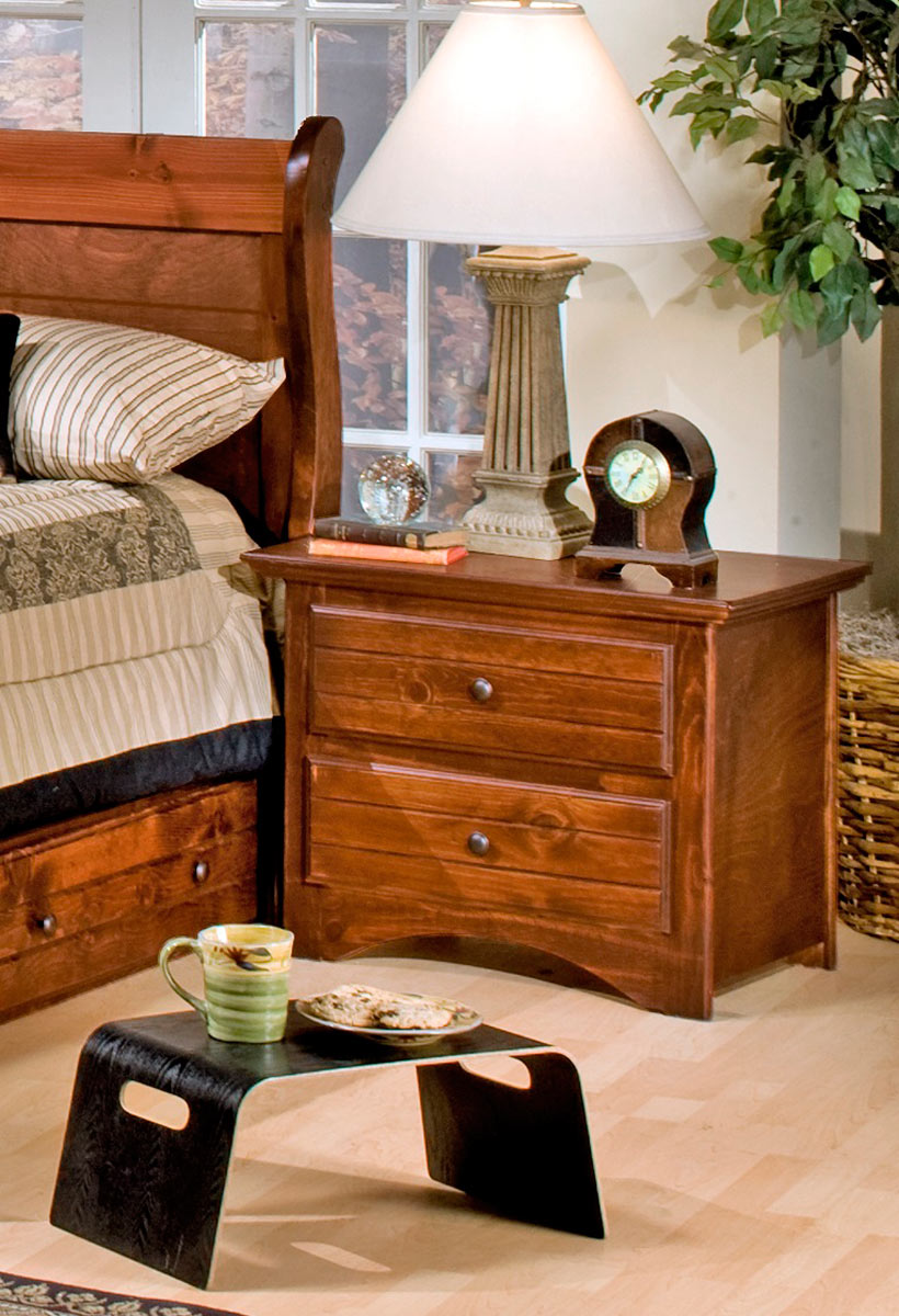 Chelsea Home 3524473-C 2 Drawer Nightstand - Cocoa