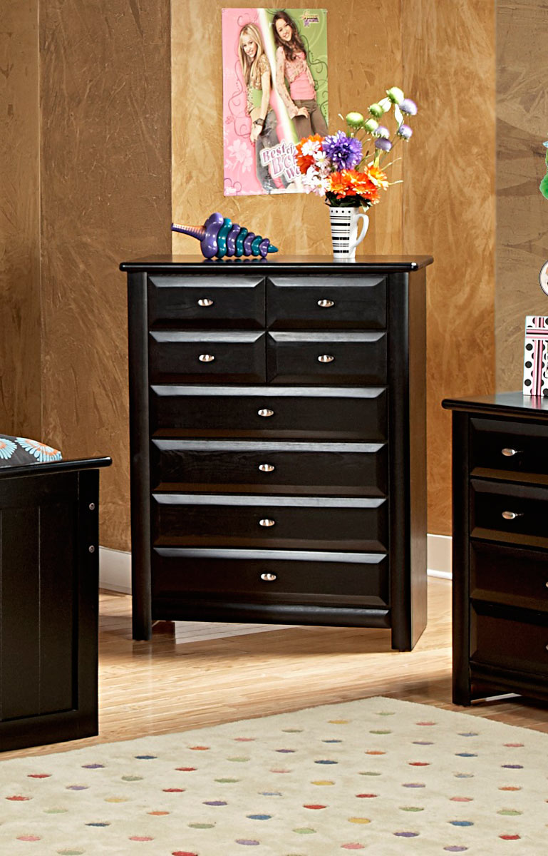 Chelsea Home 3534537 8 Drawer Chest - Black Cherry