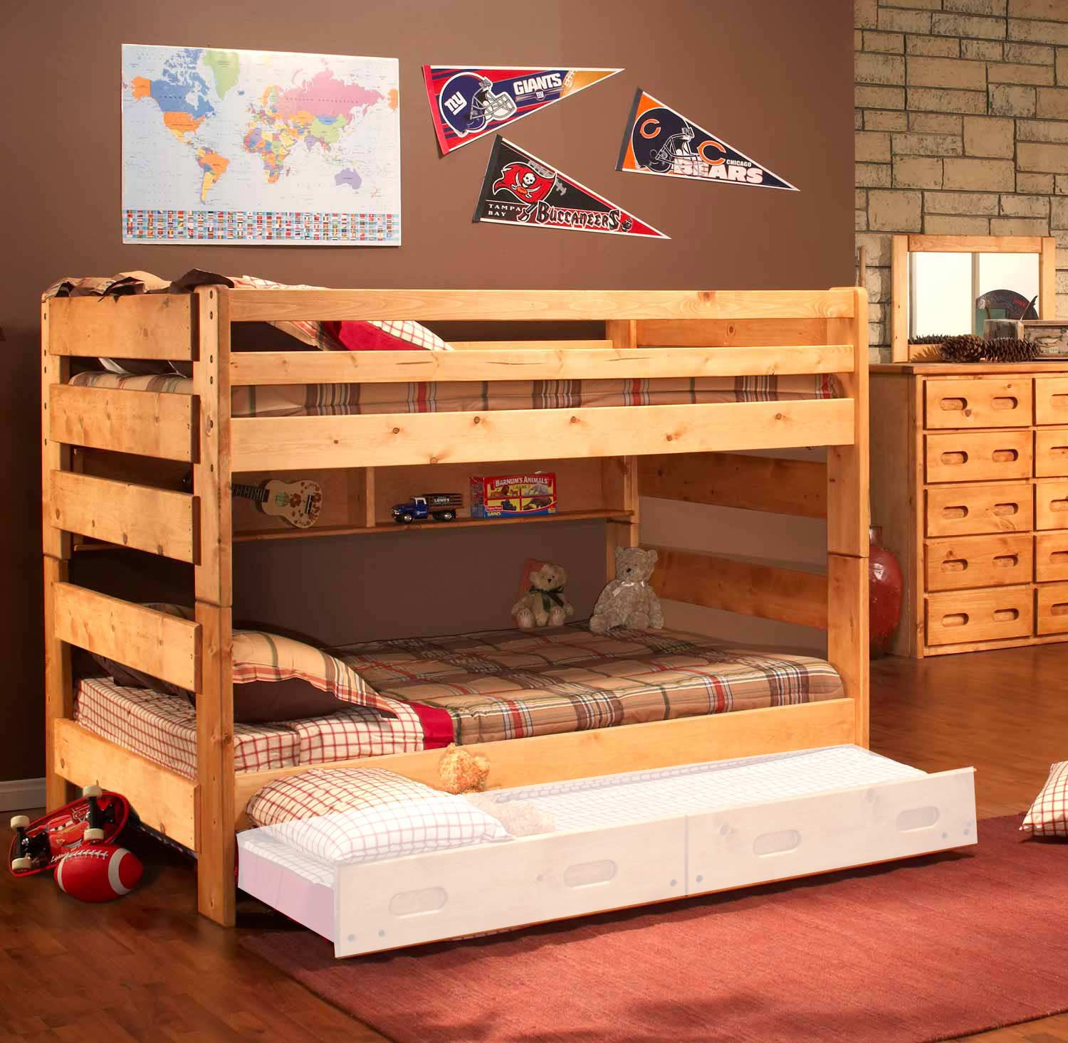 Chelsea Home 3544144 4739 Full Over Full Bunk Bed Cinnamon Chf 3544144 4739 At