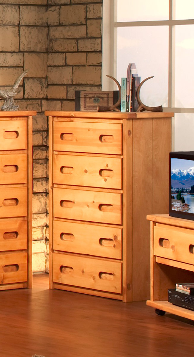 Chelsea Home 3544773 5 Drawer Chest - Cinnamon