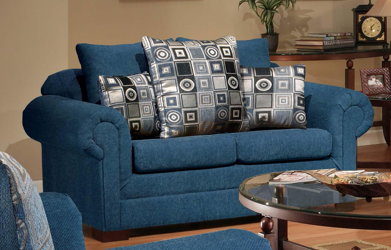 Chelsea Home Marsha Sofa Set Tahoe Navy Boomerang Navy