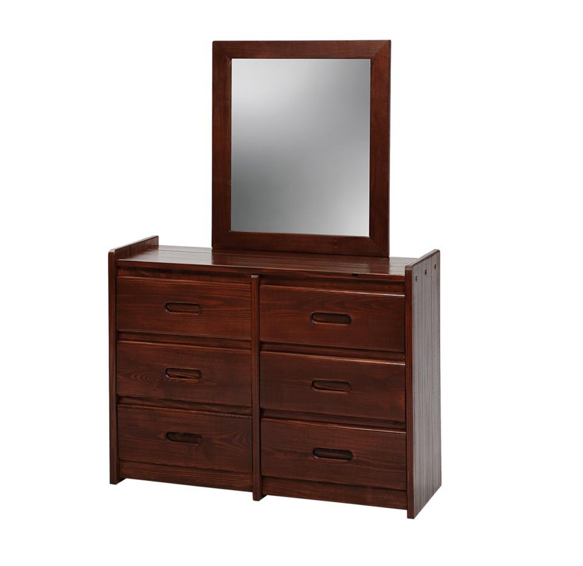 Chelsea Home 360066-011-D 6 Drawer Dresser with Mirror - Dark