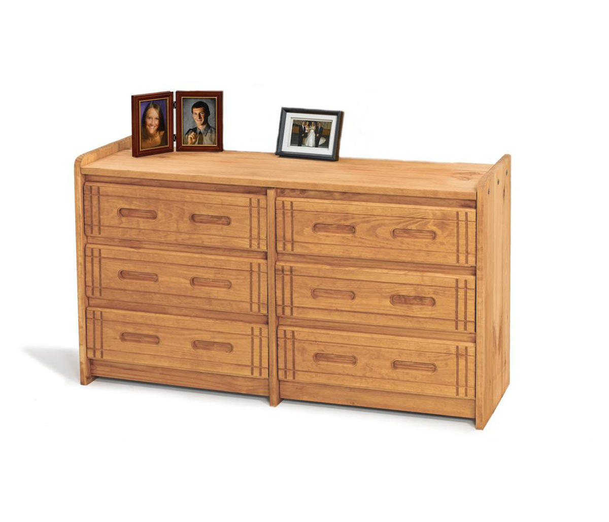 Chelsea Home 360066-W 6 Drawer Dresser - Honey