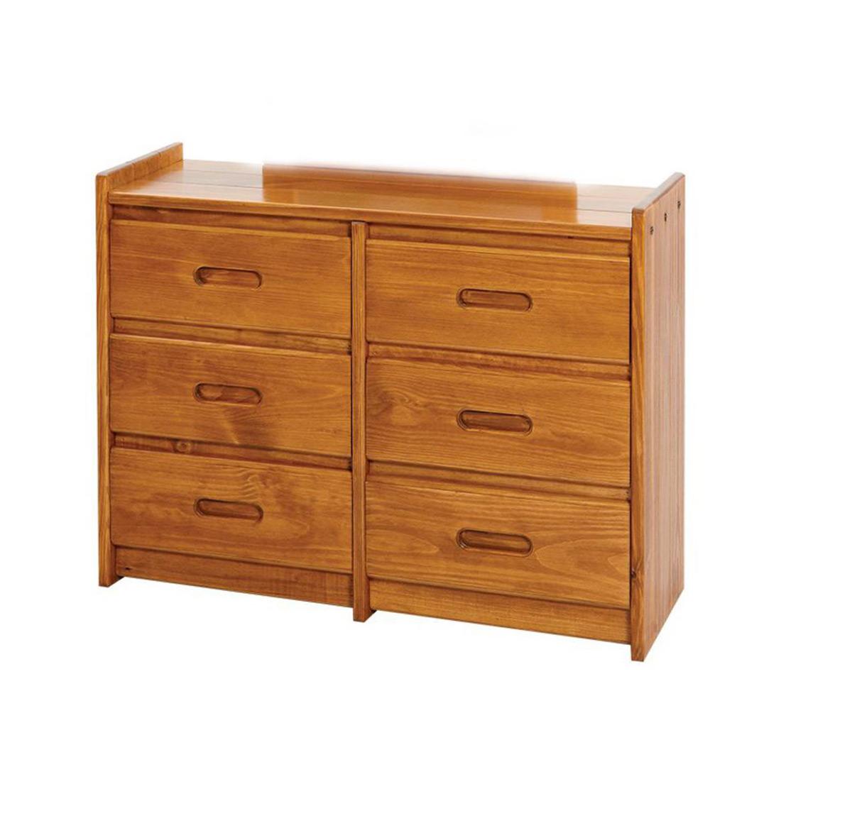 Chelsea Home 360066 6 Drawer Dresser - Honey