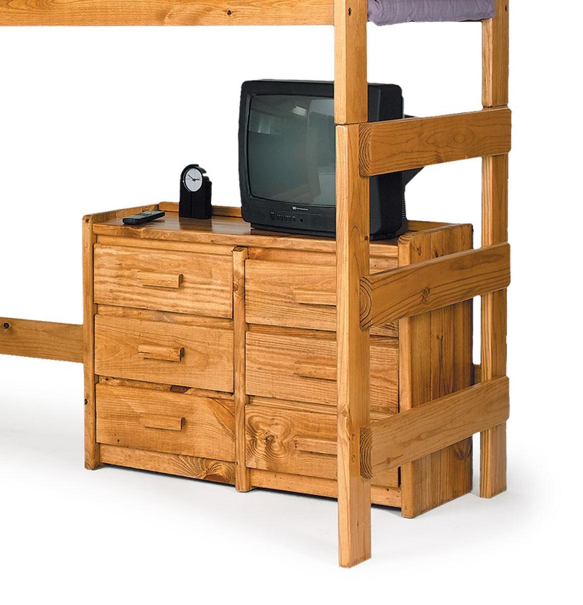 Chelsea Home 36066 6 Drawer Dresser - Honey