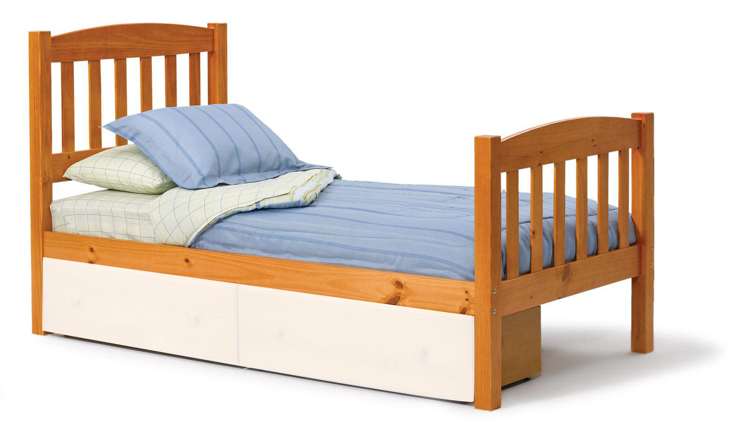 Chelsea home furniture 3643330 twin mission bed honey for Furniture 4 less salinas