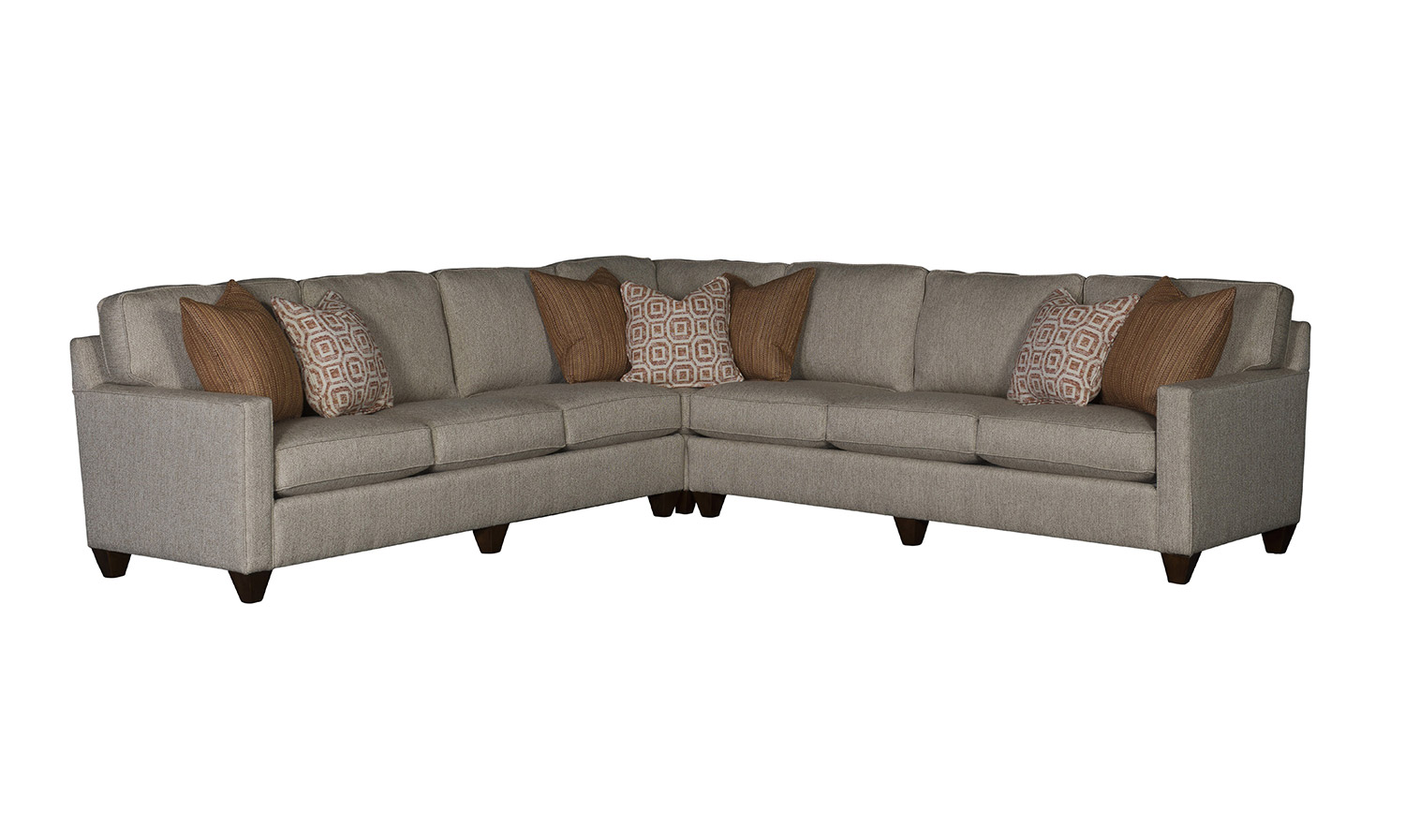Chelsea Home Sutton Sectional Sofa   Grey