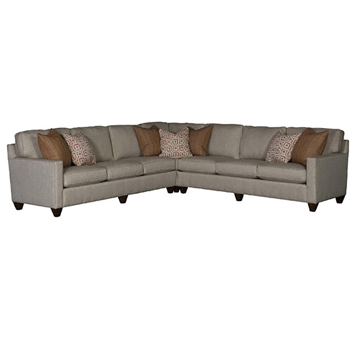 Chelsea Home Sutton Sectional Sofa - Raven Stainless