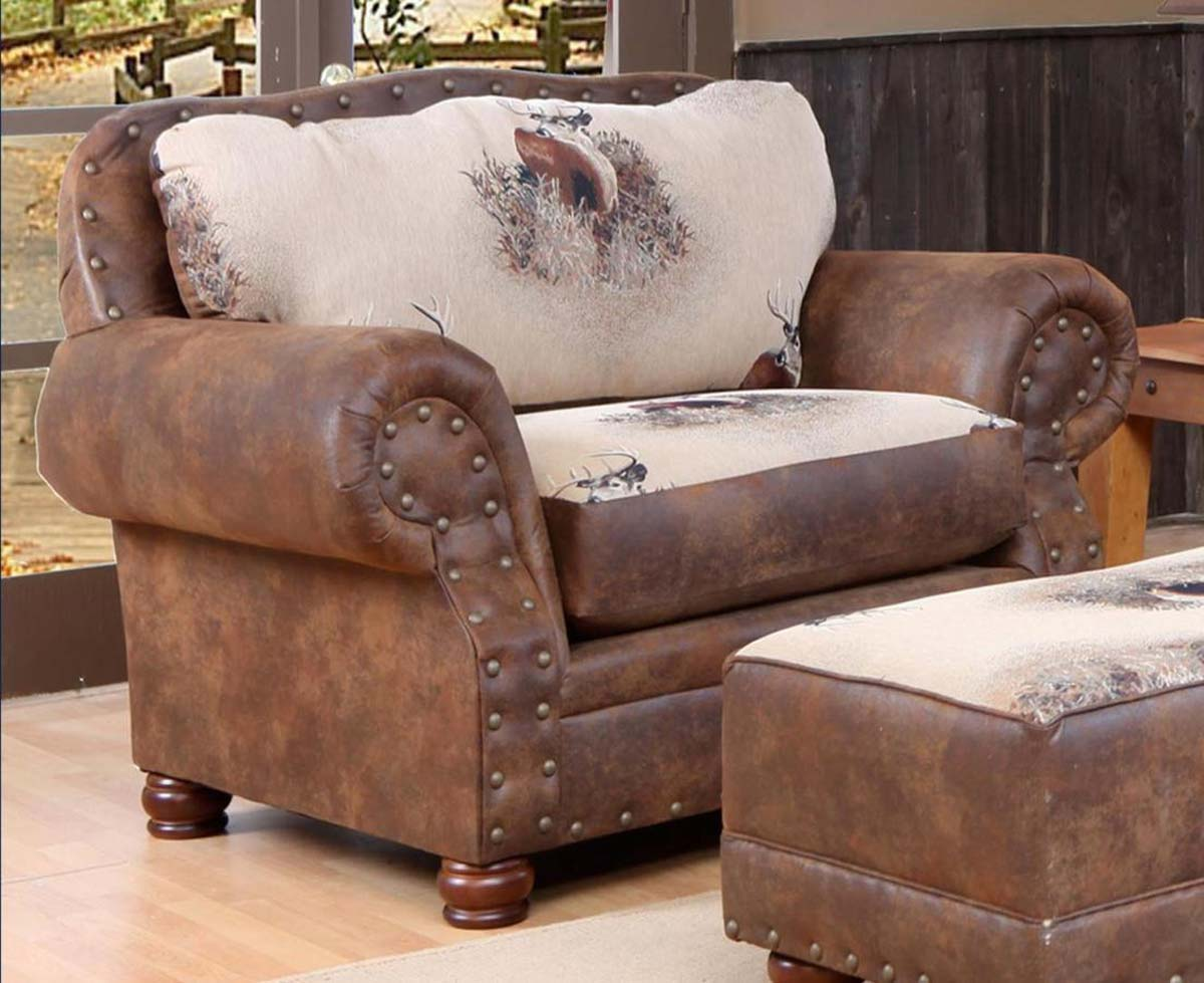 Pretty Chelsea Home Furniture CH Big Buck Chair A Half Trophy BuckPinto Tobacco Microfiber Chelse Product Photo