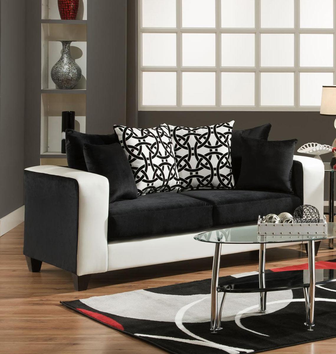 Chelsea Home Emboss Sofa - Black