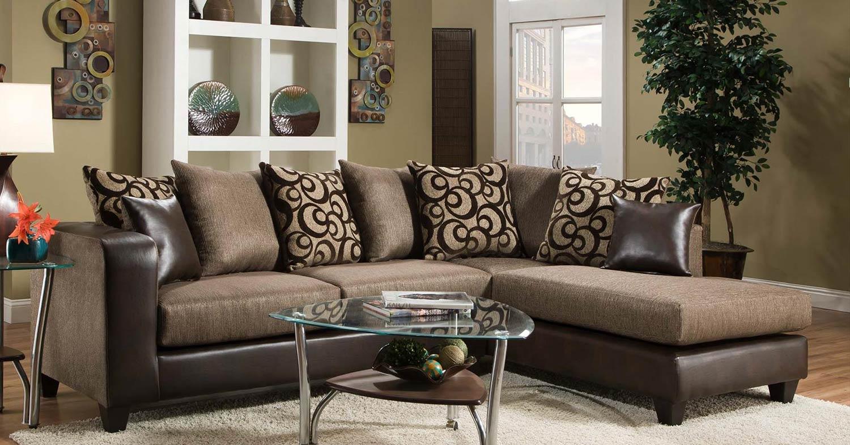 Chelsea Home Ame Sectional Sofa - Espresso