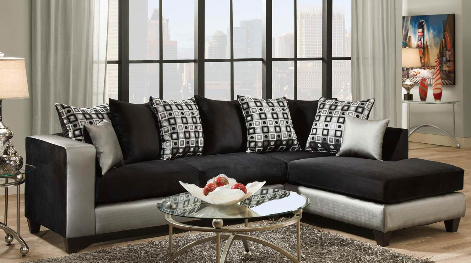 Chelsea Home Ame Sectional Sofa - Steel