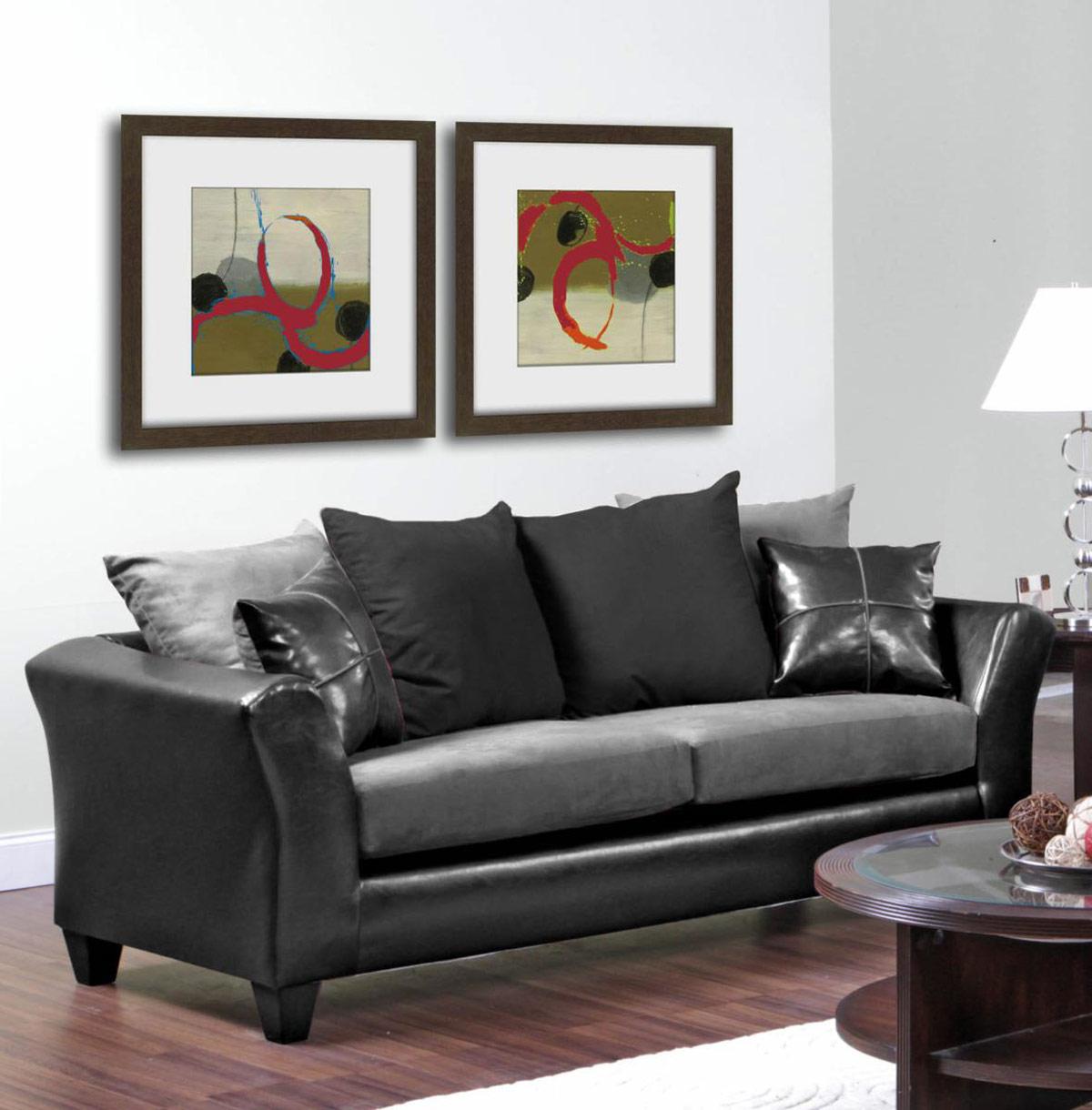 Chelsea Home Gamma Sofa - Jefferson Black/Sierra Graphite