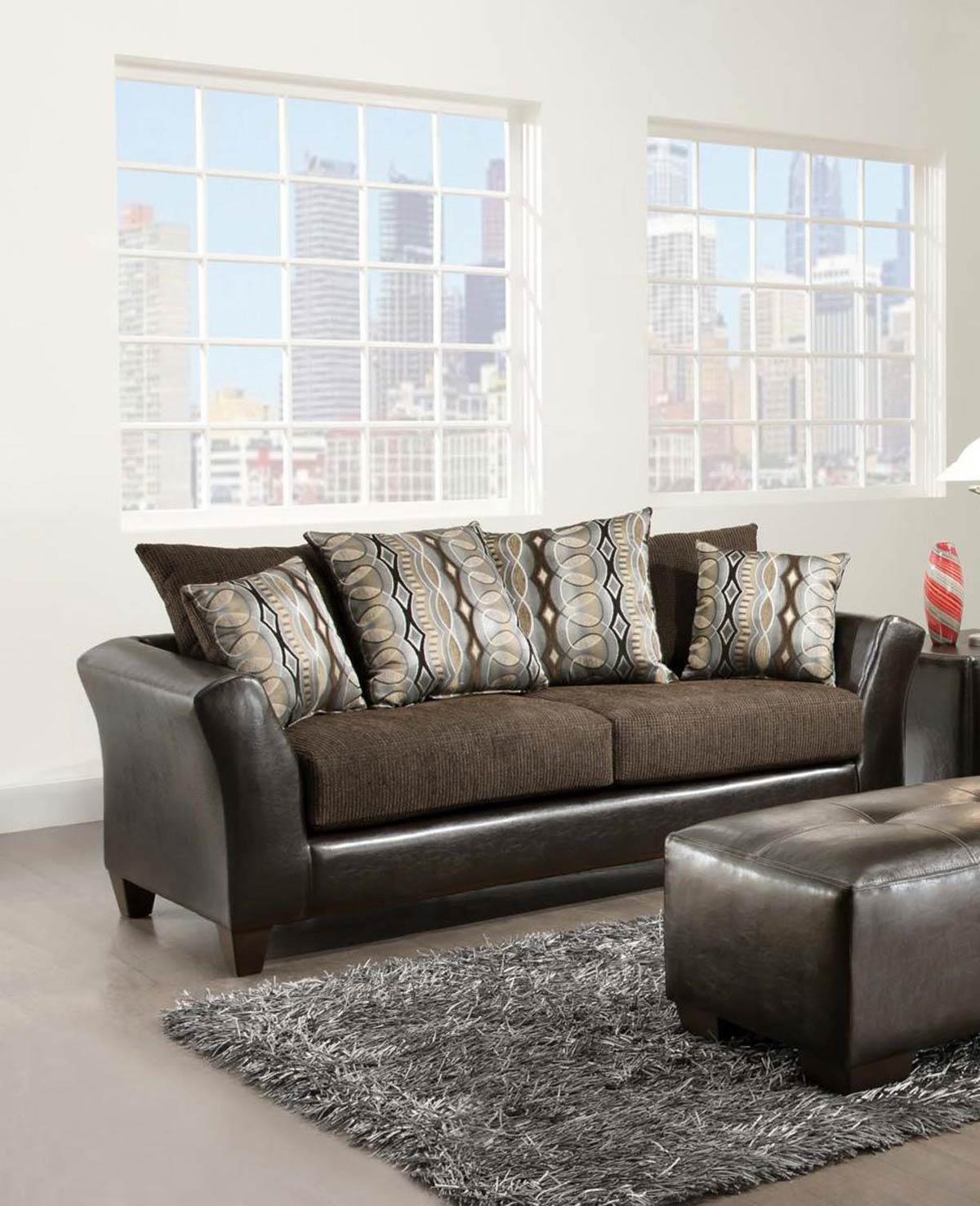 Chelsea Home Eta Sofa - Jefferson Chocolate/Rip Sable