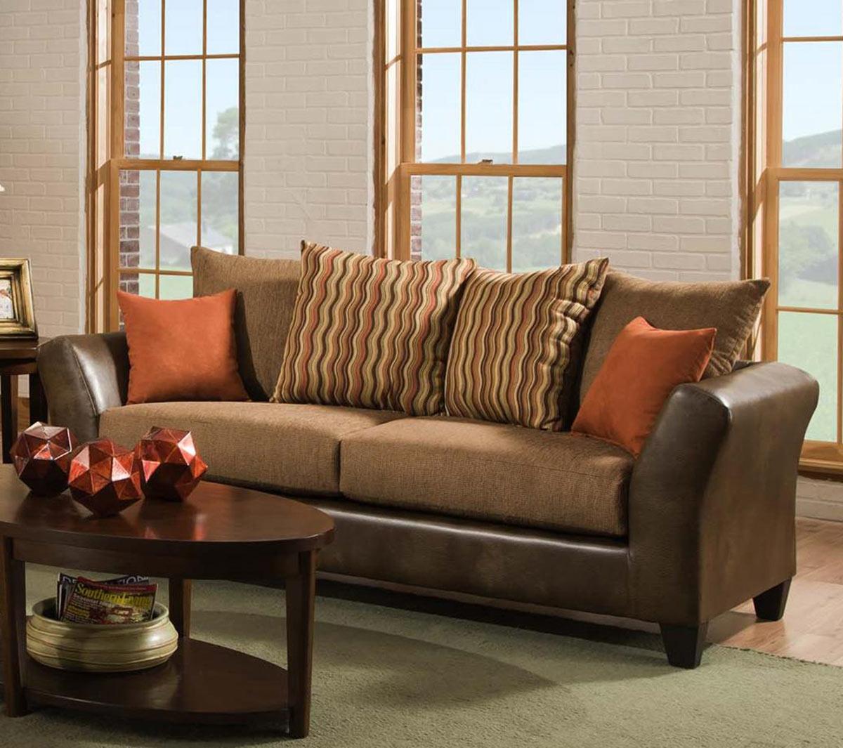 Chelsea Home Patch Sofa Set - Saddle