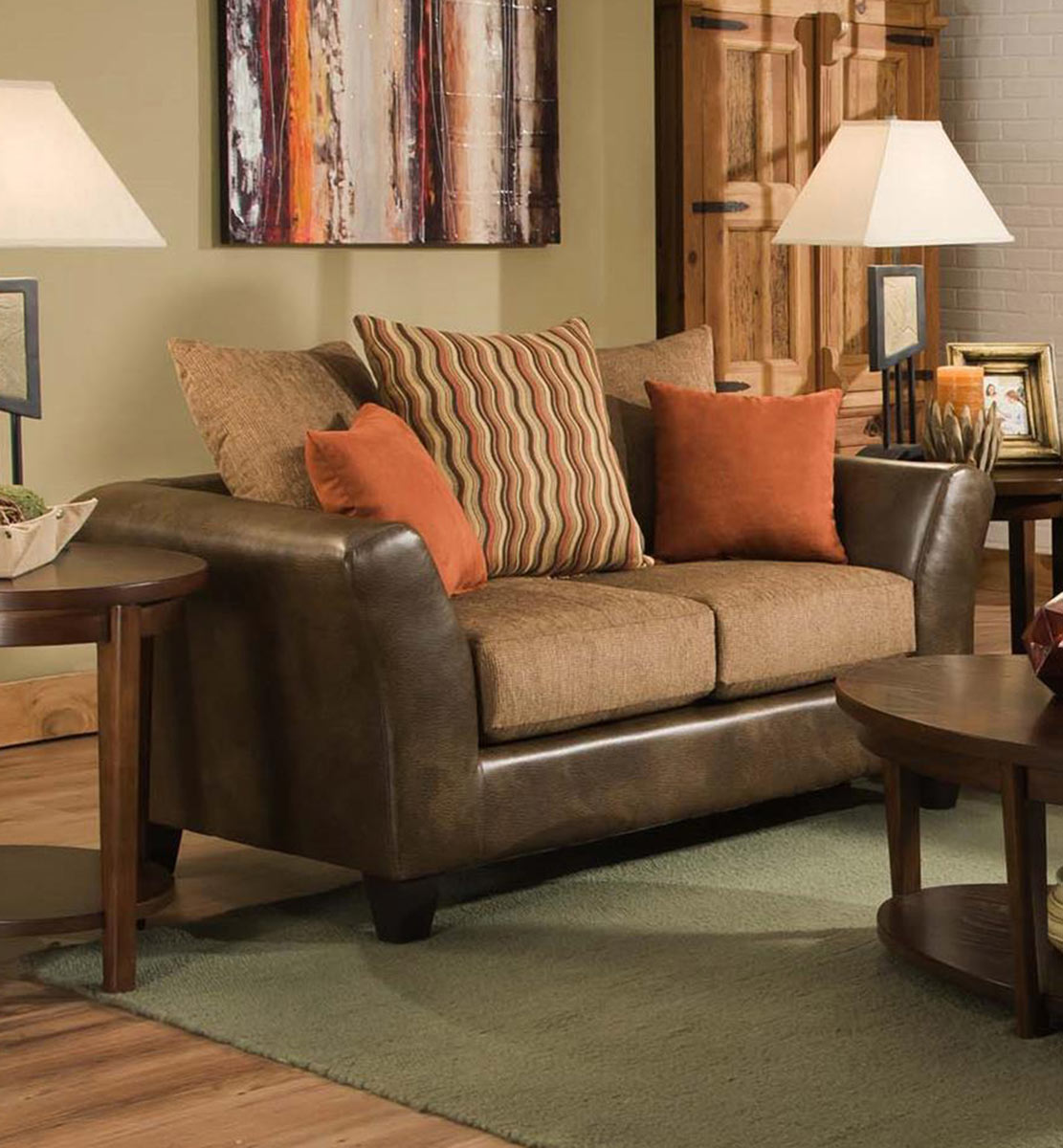 Chelsea Home Patch Loveseat - Saddle