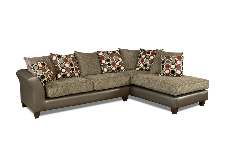 Chelsea Home Theta 2 Piece Sectional Sofa - Avanti Graphite/Surge Graphite