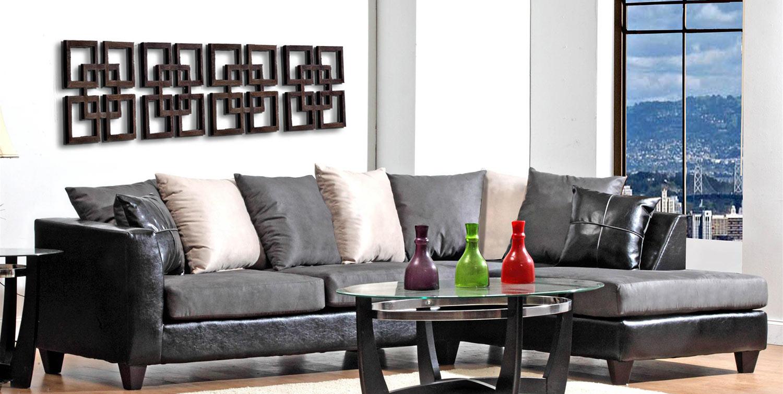 Chelsea Home Sailor Sectional Sofa - Graphite