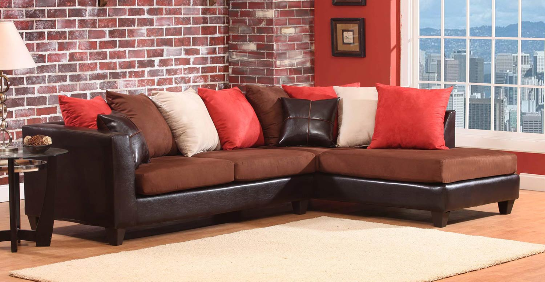 Chelsea Home Sailor Sectional Sofa - Chocolate