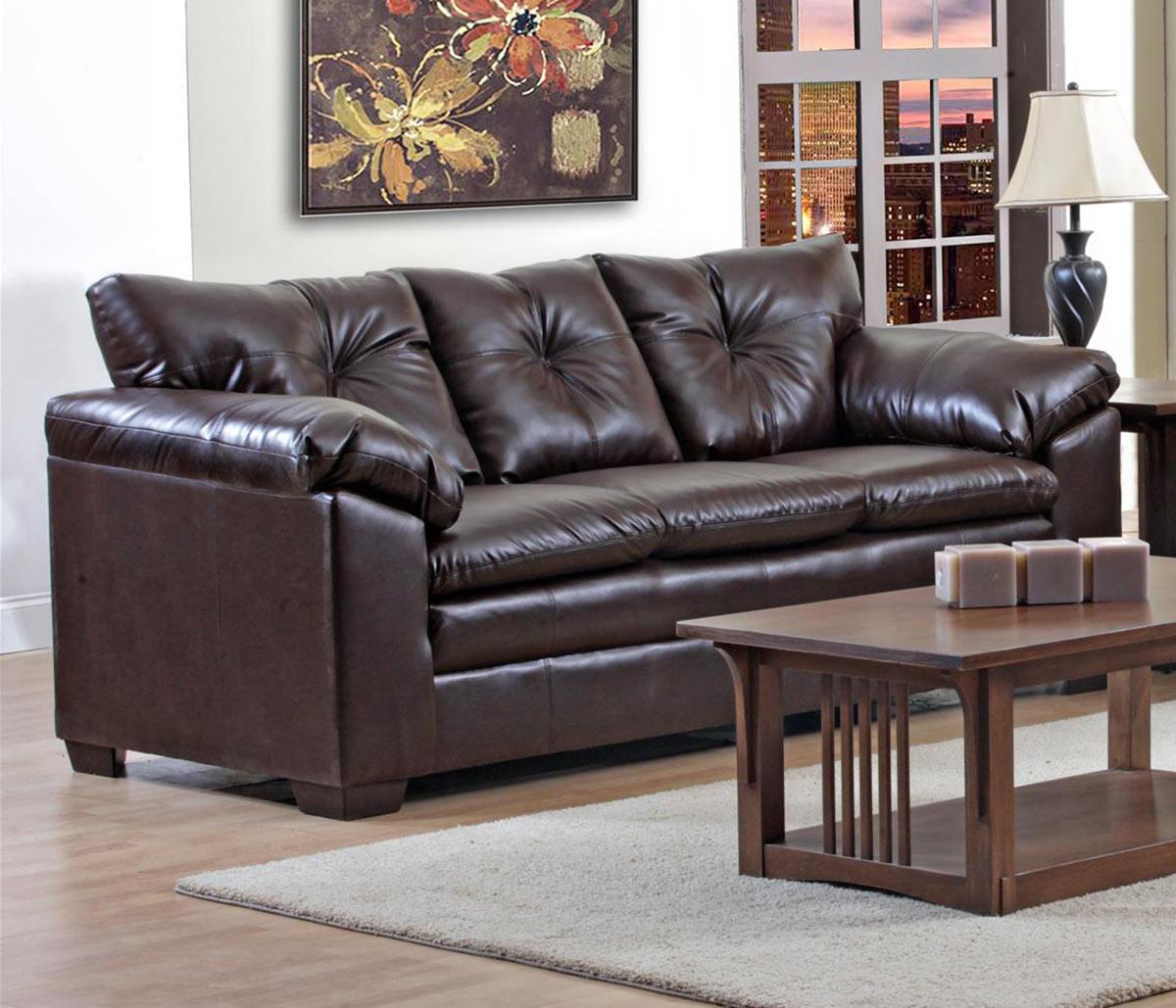 Chelsea Home Meri Sofa Set - Brown
