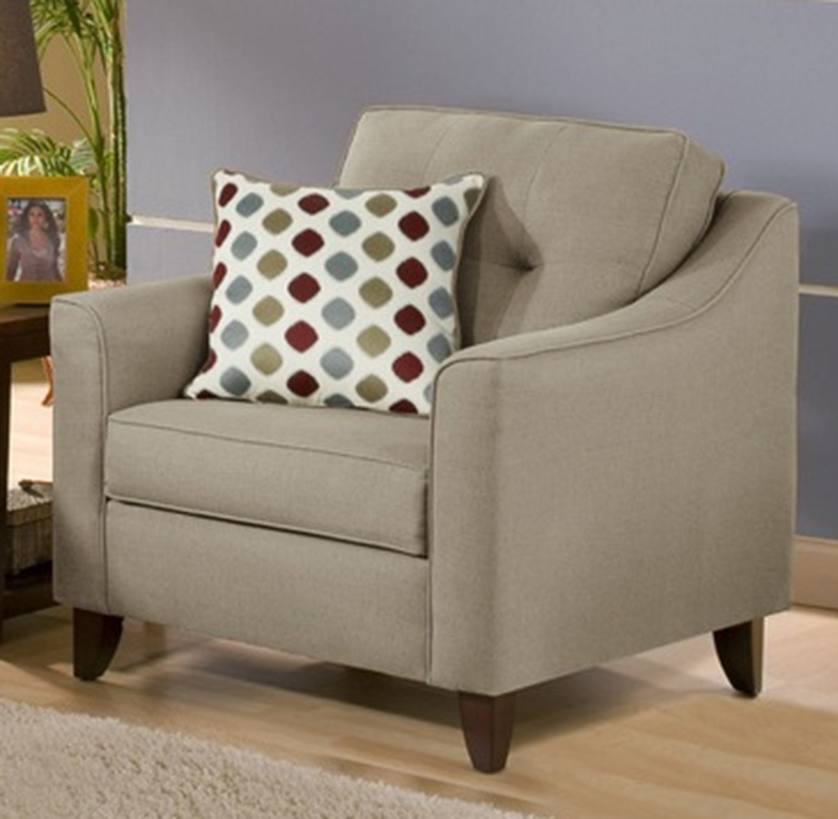 Chelsea Home Arabella Accent Chair - Stoked Truffle