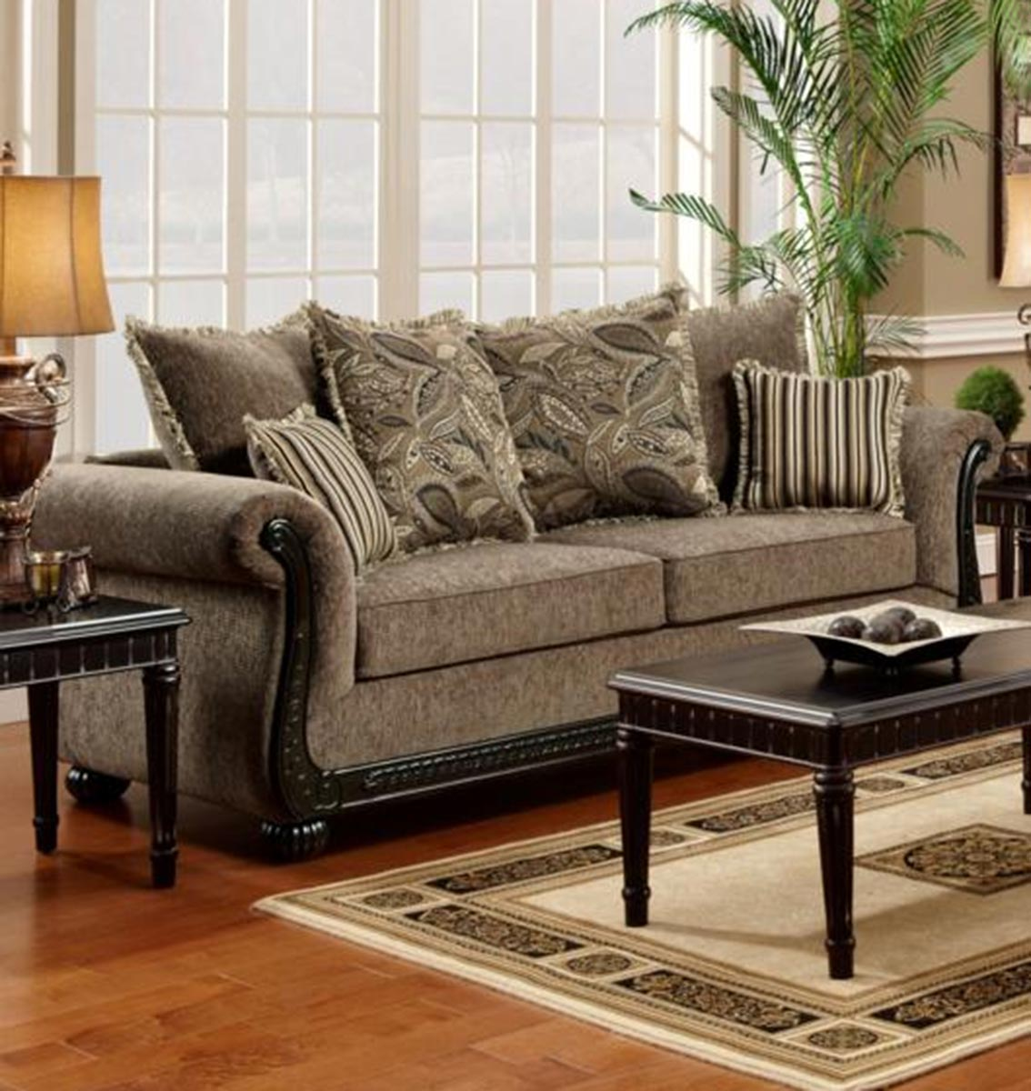 Chelsea Home Lily Sofa Set Dream Java