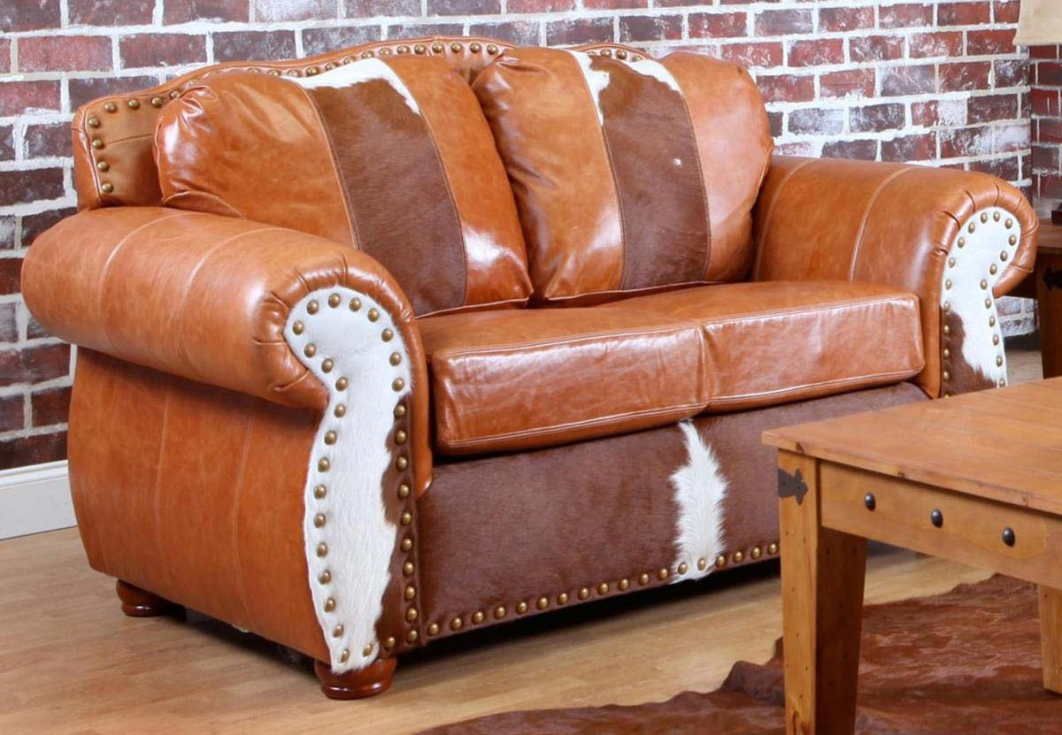 Chelsea Home Rawhide Sofa Set Top Grain Leather And
