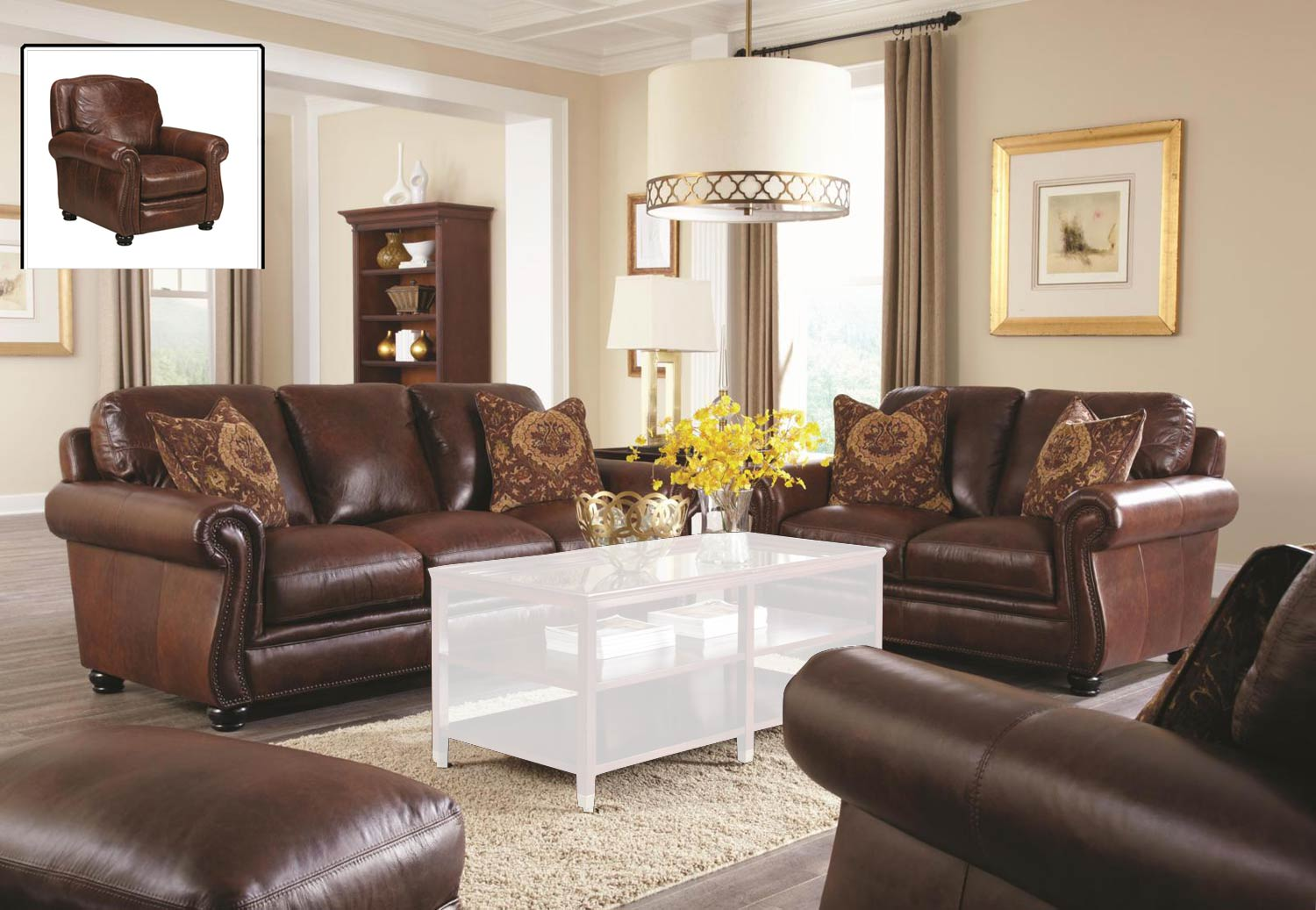 Chelsea Home Furniture San Angelo Sofa Set - Bolero Cohiba 62H044-Sofa-Set