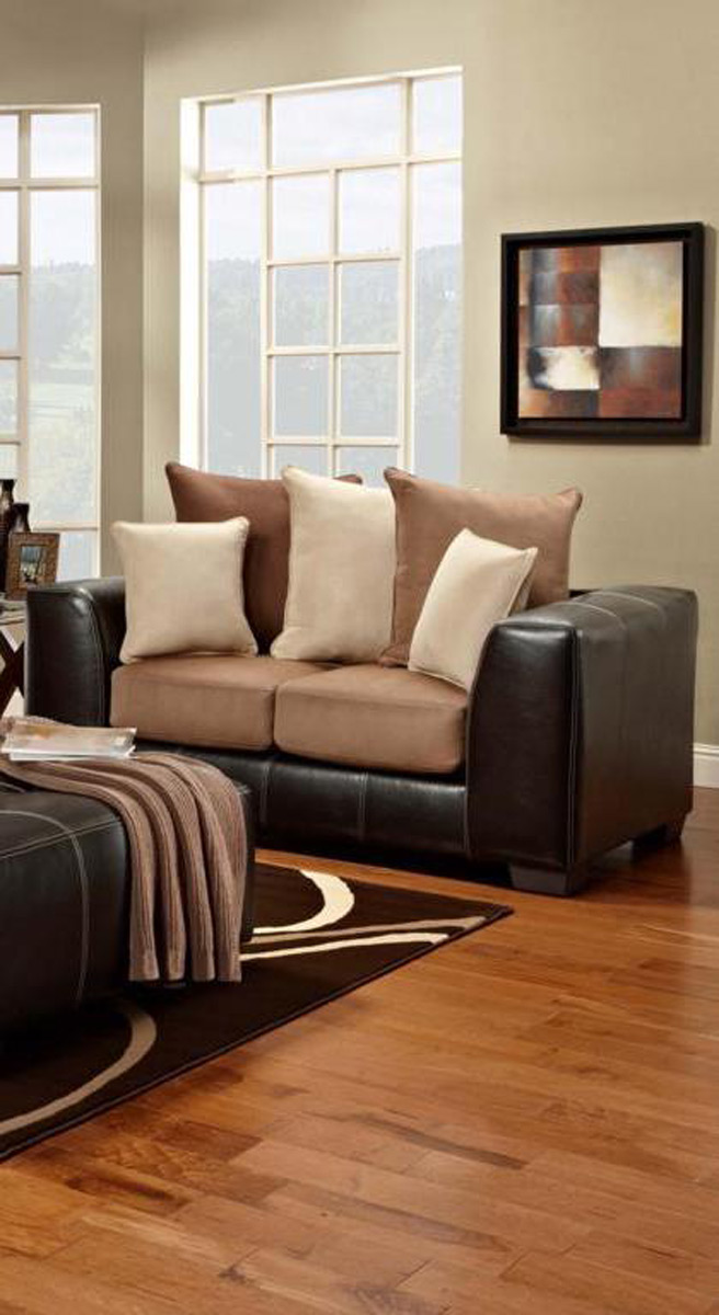 Chelsea Home Furniture Landon Loveseat - Sea Rider Saddle/LaredoMocha 6302-SRS
