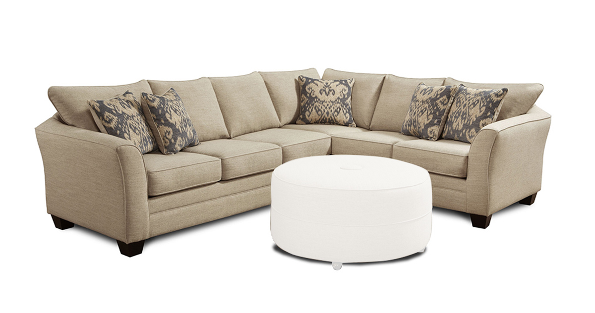 Chelsea Home Darby 2 pcs. Sectional Sofa - Ikat Beige