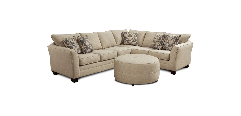 Chelsea Home Darby 2 pcs Sectional Sofa Set - Ikat Beige
