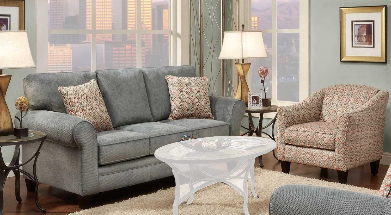Chelsea Home Ellis Sofa Set - Gray