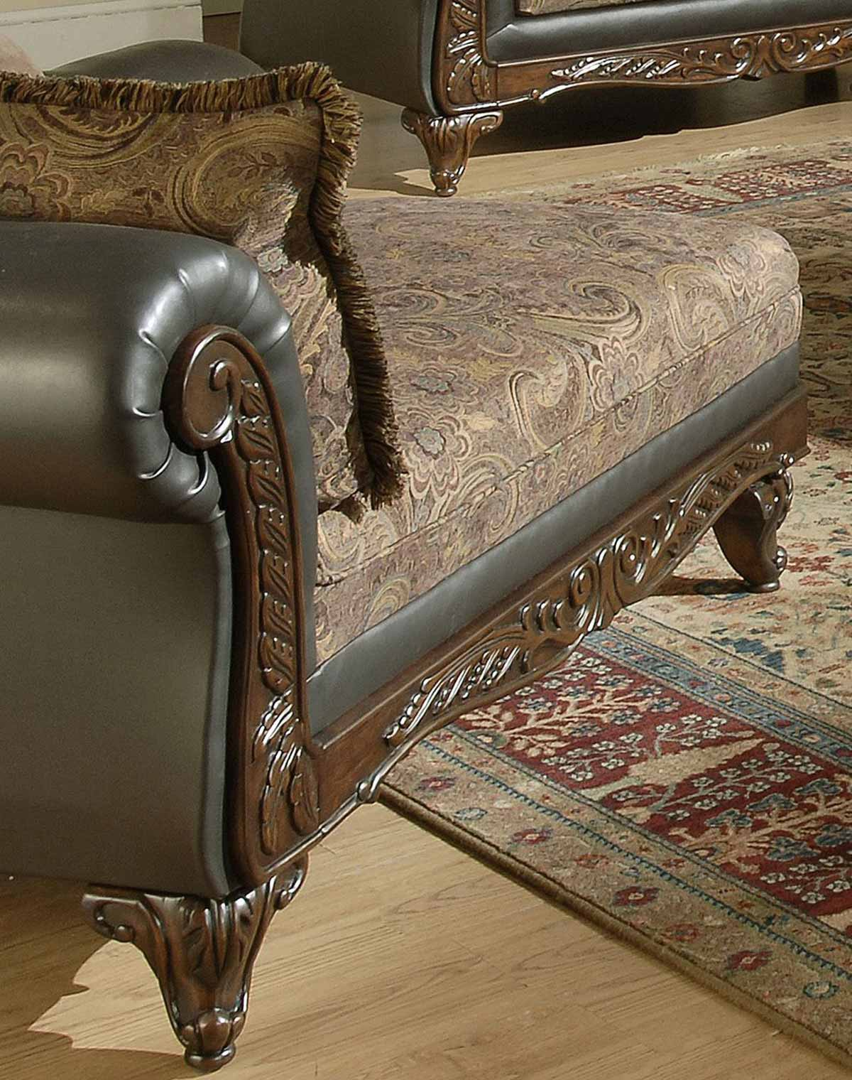 chelsea home serta ronalynn chaise chocolate chf. Black Bedroom Furniture Sets. Home Design Ideas