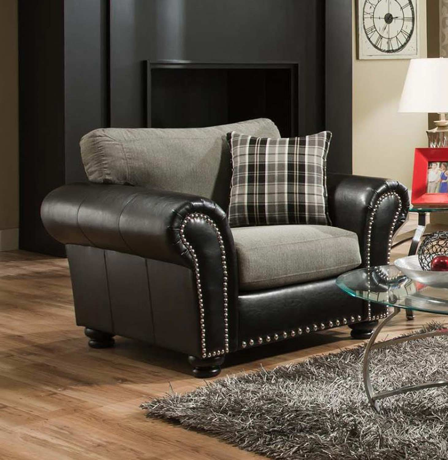 Chelsea Home Simpson Accent Chair - Talbot Graphite