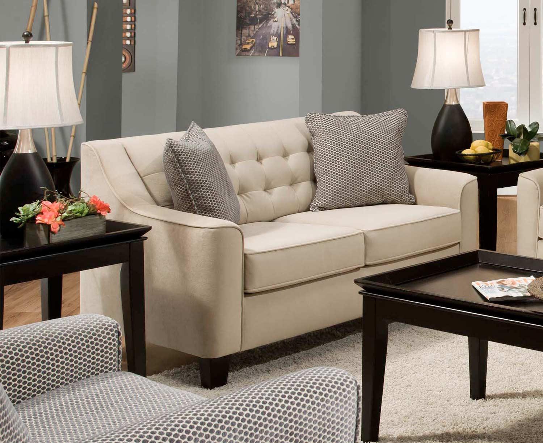 Chelsea Home Furniture Jamestown Loveseat - Comet Doe/Bubbles Fog 730959-10-GENS-25013