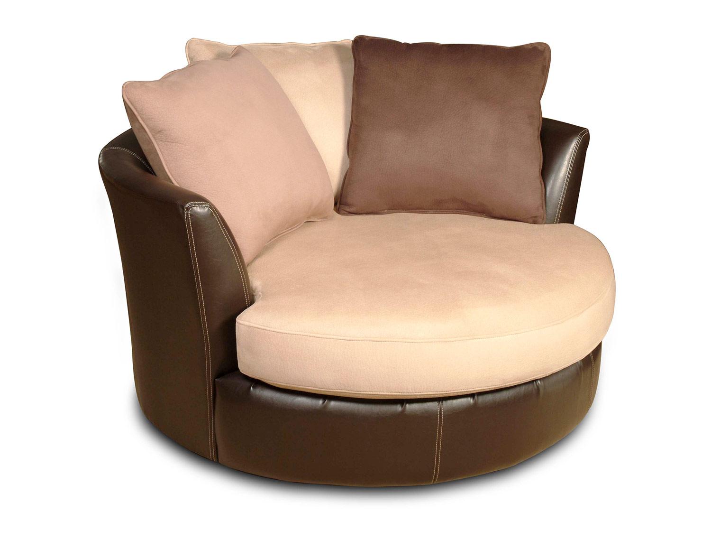Chelsea Home Newport Swivel Chair   Laredo Mocha Bi Cast