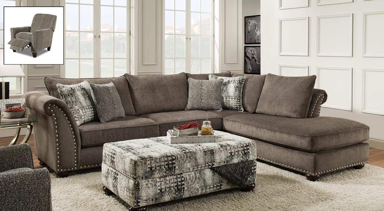 Chelsea Home Carter Sectional Sofa Set - Dynasty Bark : carter sectional - Sectionals, Sofas & Couches