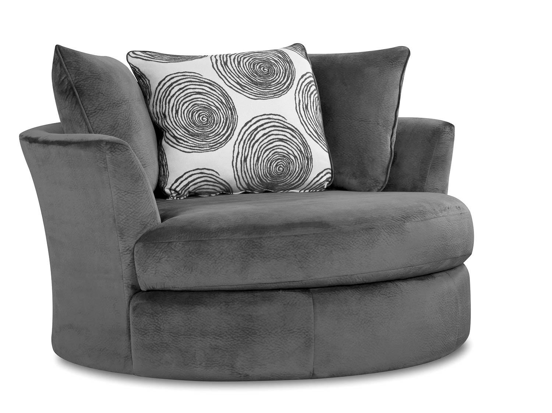 Chelsea Home Rayna Swivel Chair - Groovy Smoke