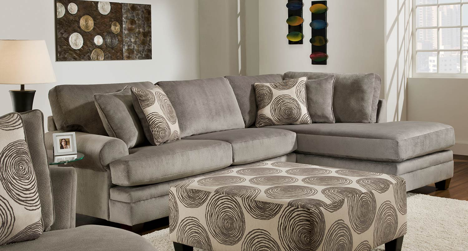 Fabulous Chelsea Home Rayna 2 Pc Sectional Sofa Groovy Smoke Ocoug Best Dining Table And Chair Ideas Images Ocougorg