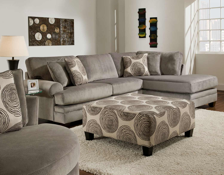 Chelsea Home Rayna Sectional Sofa Set   Groovy Smoke