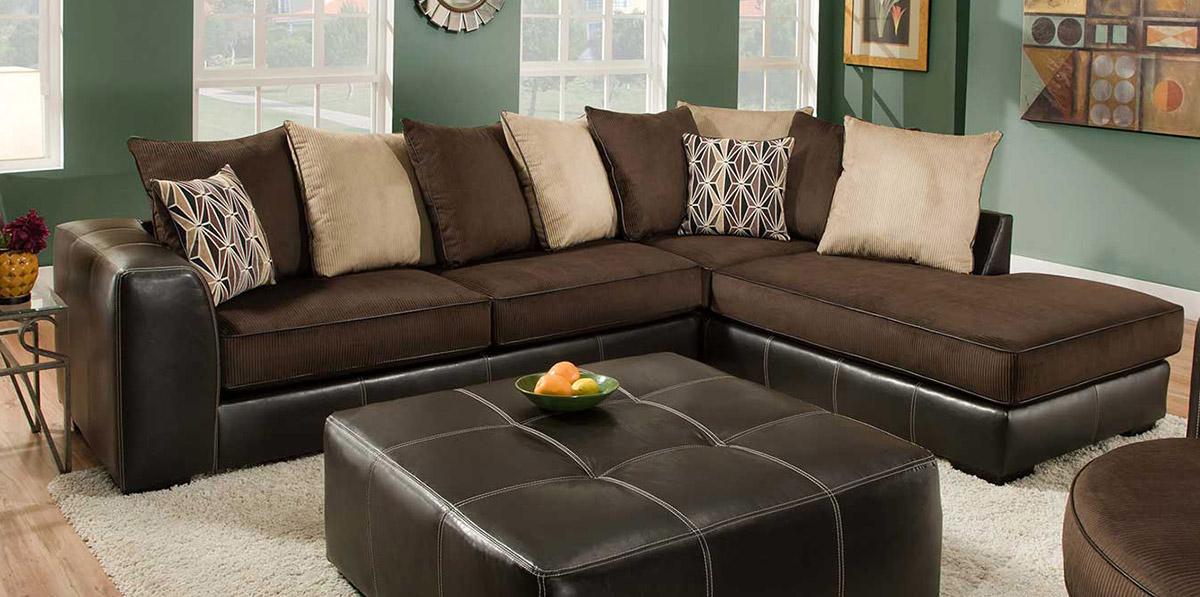 Chelsea Home Hughe 2 pc Sectional Sofa CHF E SM p