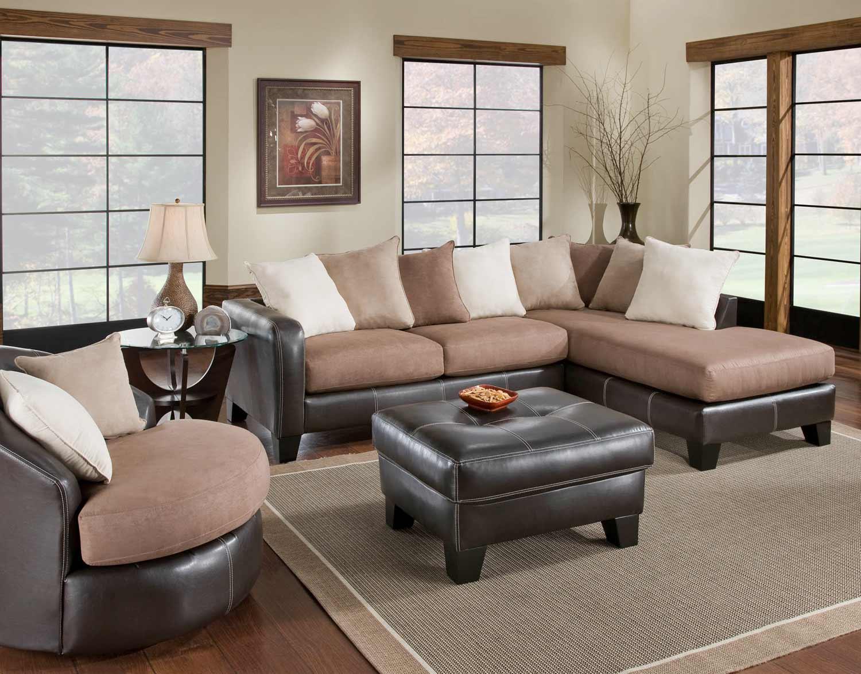 Chelsea Home Burke Sectional Sofa Set - San Marino Mocha : burke sectional - Sectionals, Sofas & Couches