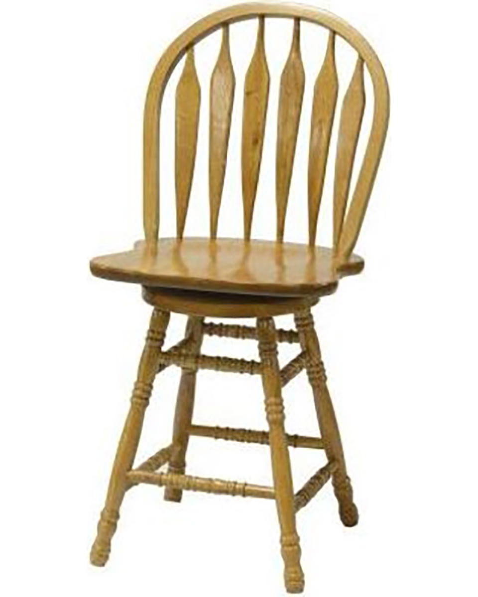 Chelsea Home Greelea 24-inch Barstool - Harvest Oak