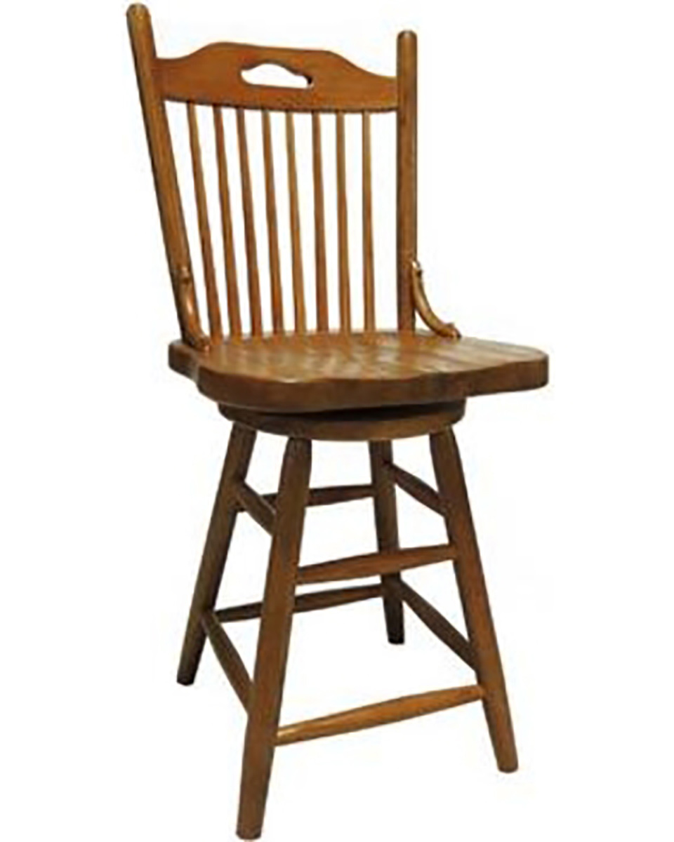 Chelsea Home Garland 24-inch Barstool - Burnished Walnut