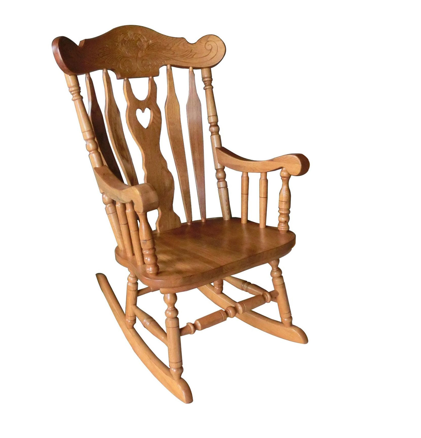 Chelsea Home Buttonwood Rocker - Hervest Oak