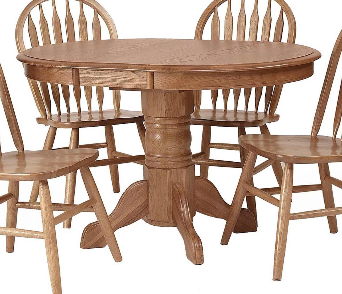 Chelsea Home Sandalwood Pedesta - Medium Oak