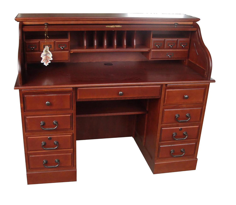 Chelsea Home Mylan 54-inch Roll Top Desk Top - Cherry